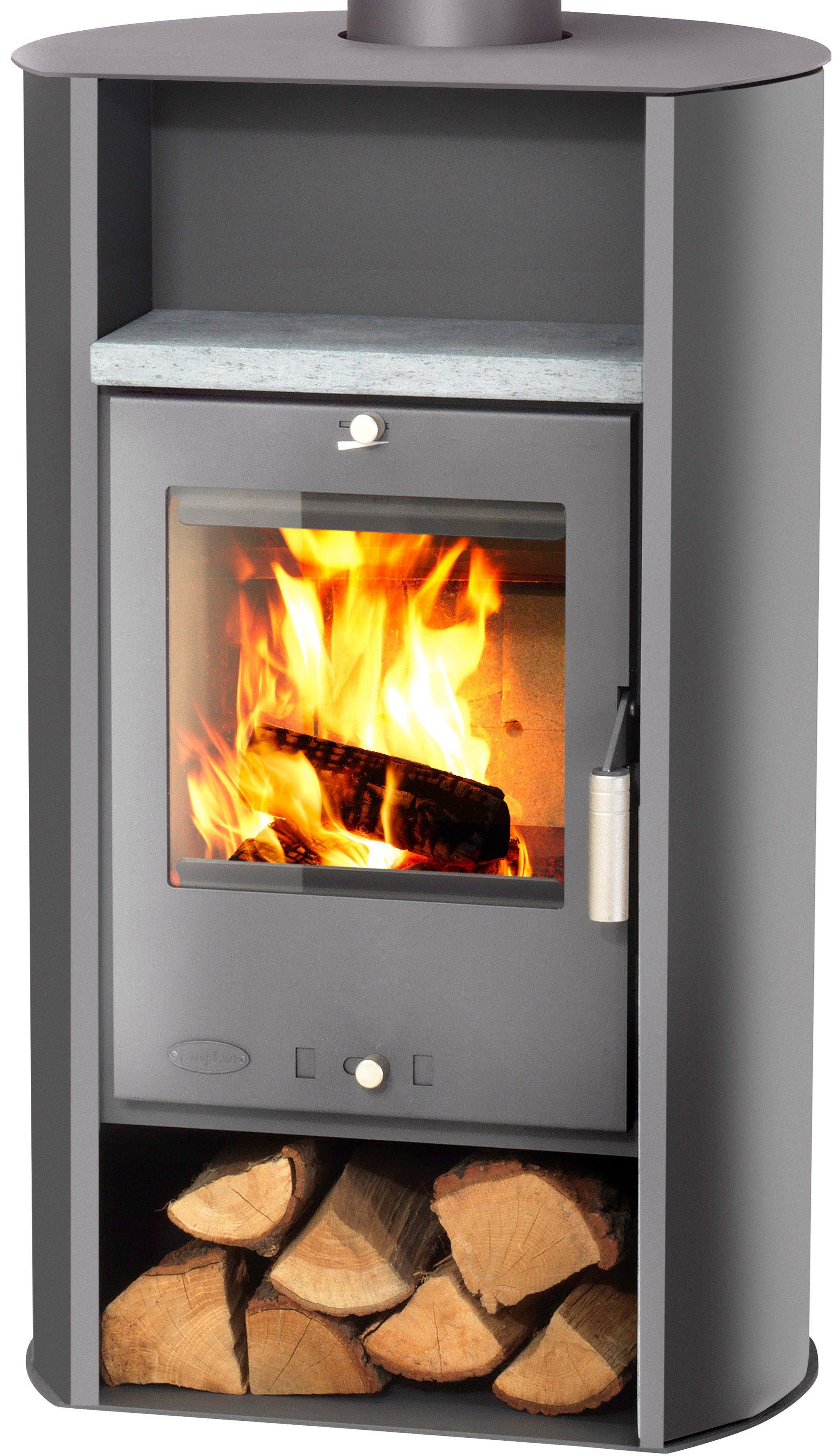 Kaminofen »Santa Fé«, Stahl, 6 kW, runde Rückseite, Fireplace