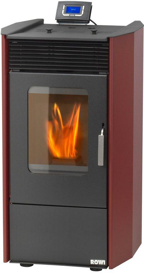 Pelletofen »HPO 9,0 Easy Premium«, Stahl rot, 8,14 kWext. Luftzufuhr, 17kg Pellettank in rot