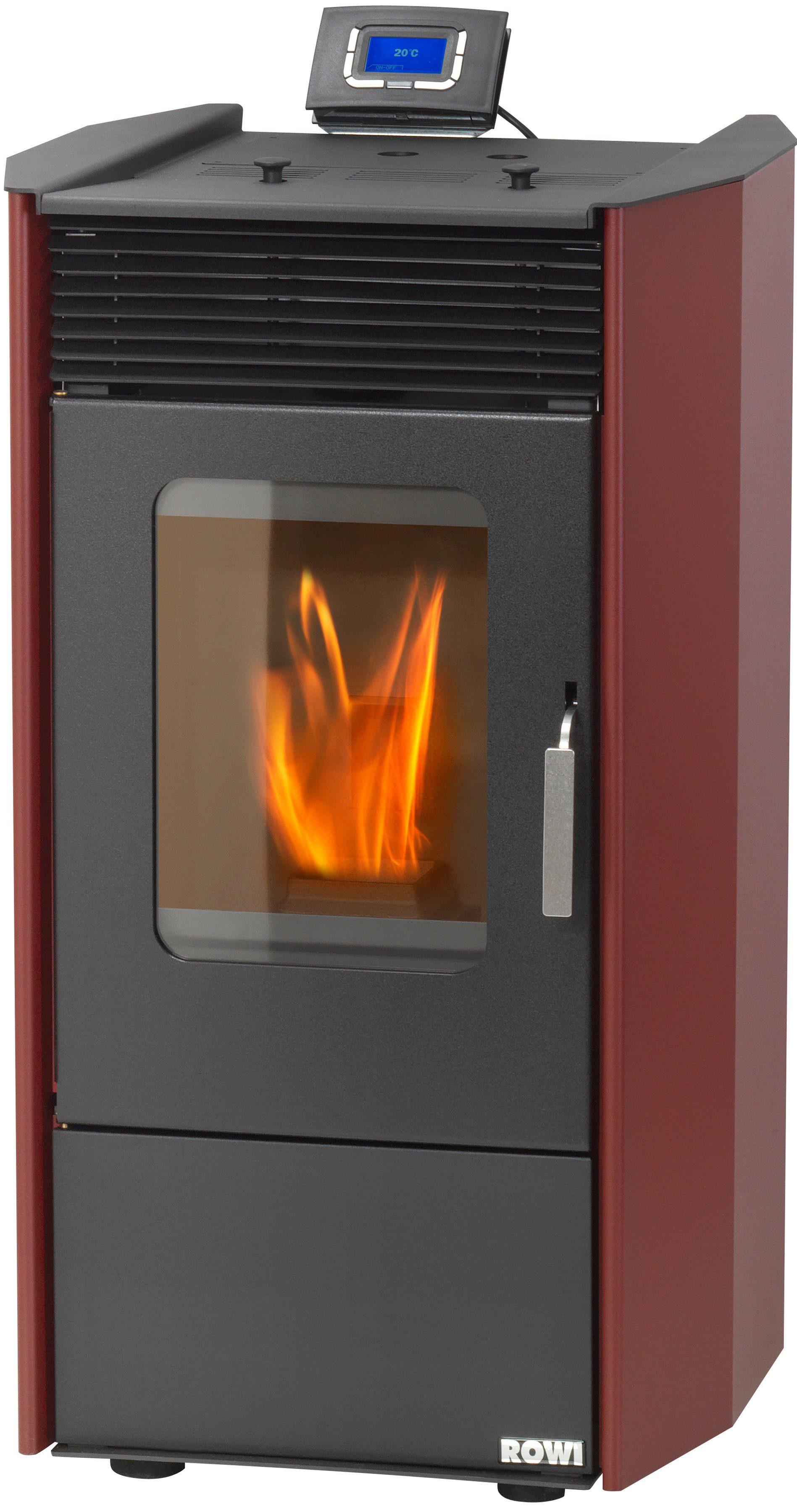 Pelletofen »HPO 9,0 Easy Premium«, Stahl rot, 8,14 kWext. Luftzufuhr, 17kg Pellettank