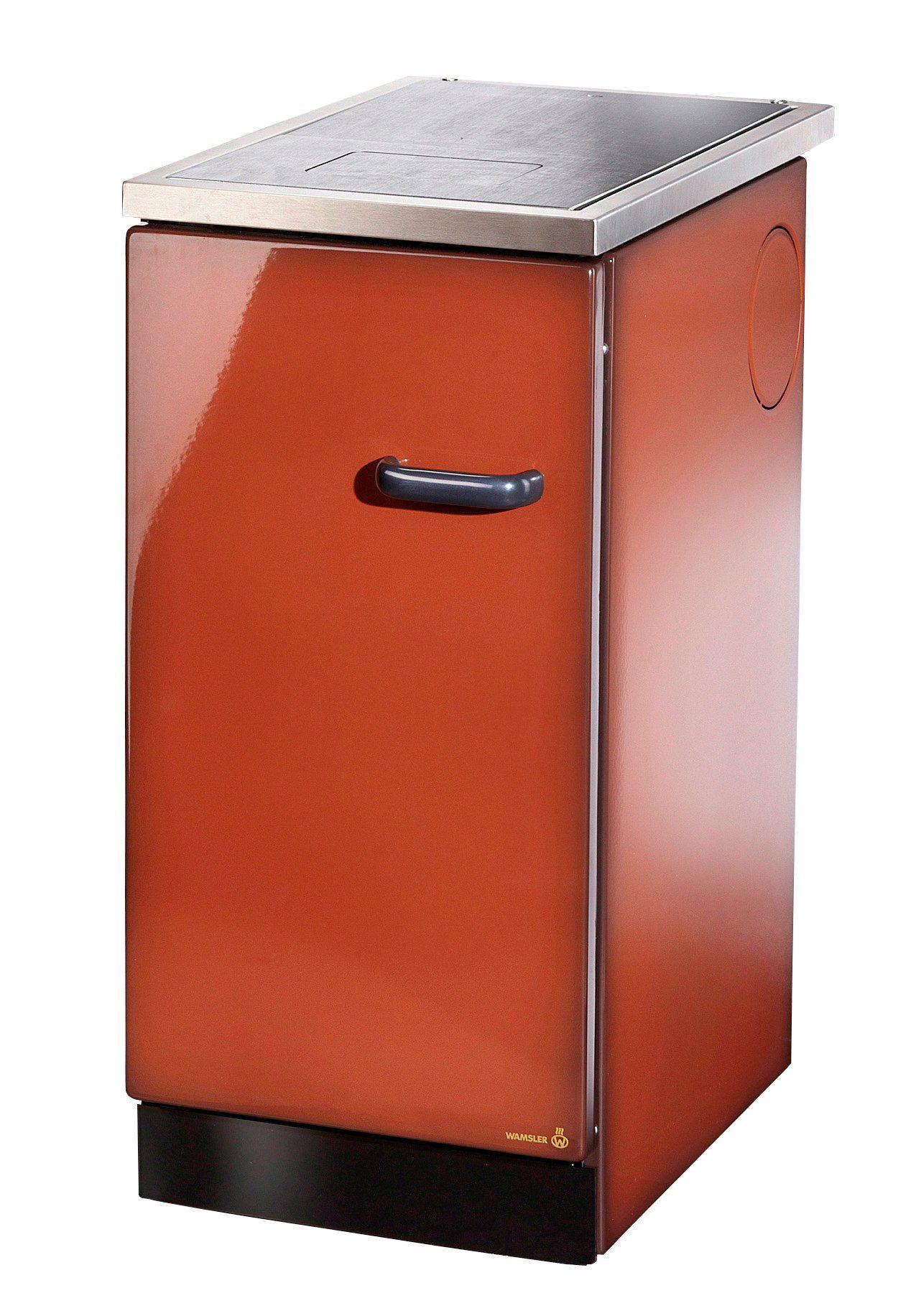 WESTMINSTER Festbrennstoffherd »K144«, Stahl maron, 5 kW, Dauerbrand, Herdplatte