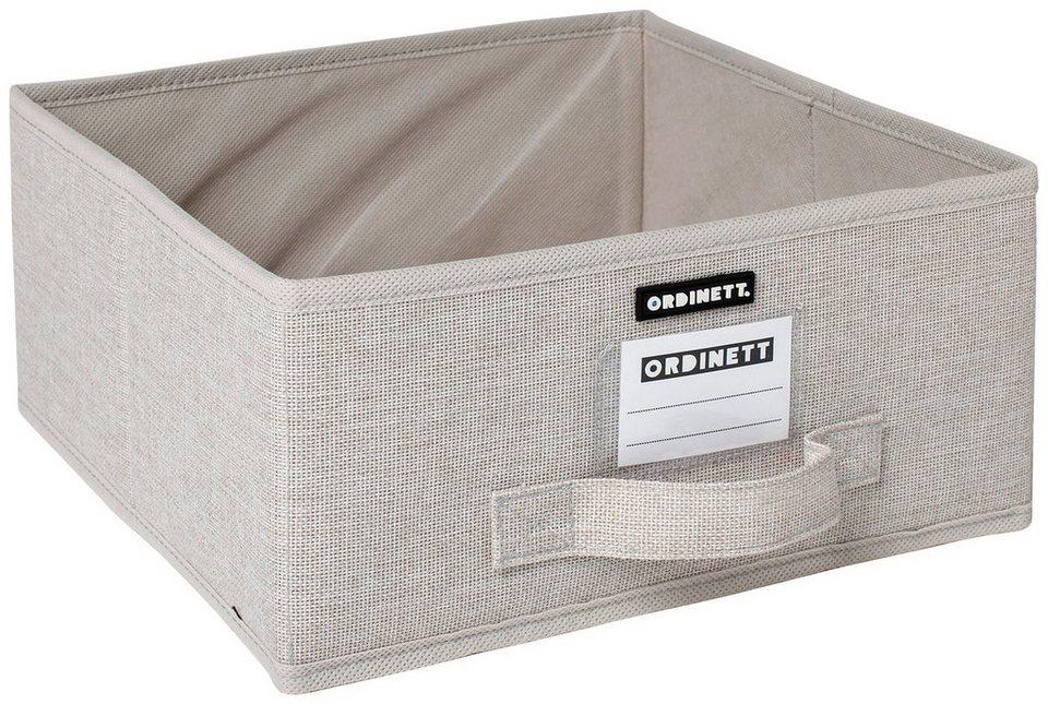 Aufbewahrungsbox »Linette«, 28,5x28,5x14 cm in beige