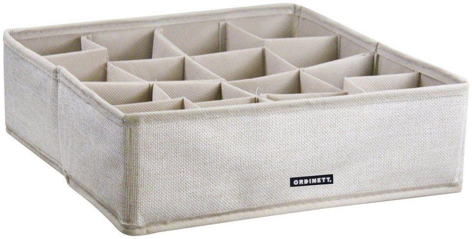 Aufbewahrungsbox »Linette«, mit 16 Fächern, 30,5x30,5x10 cm, 2er-Set in beige