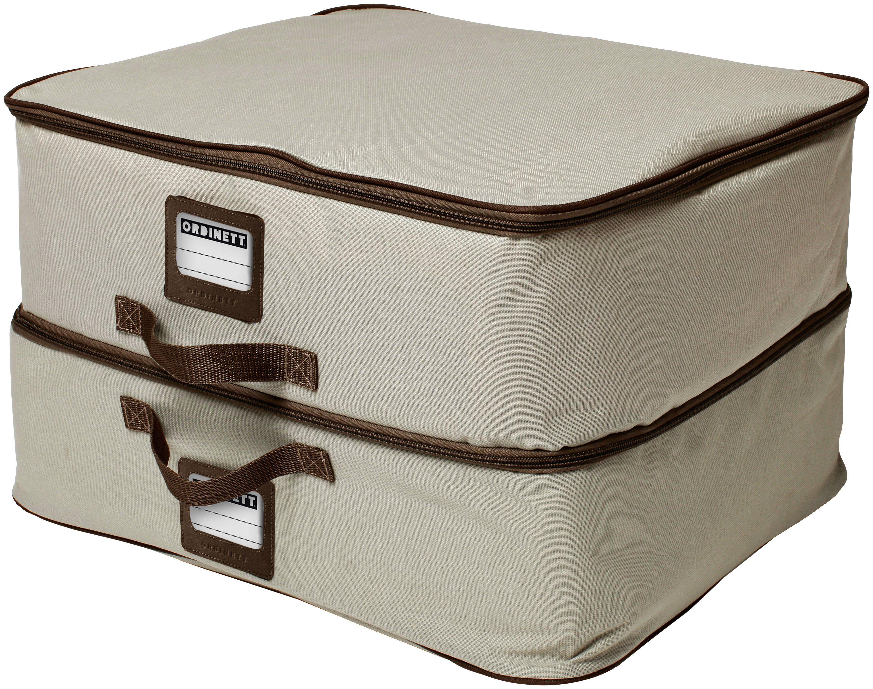 Wäschebox »Double XXL mit Griff und Beschriftungsfenster«