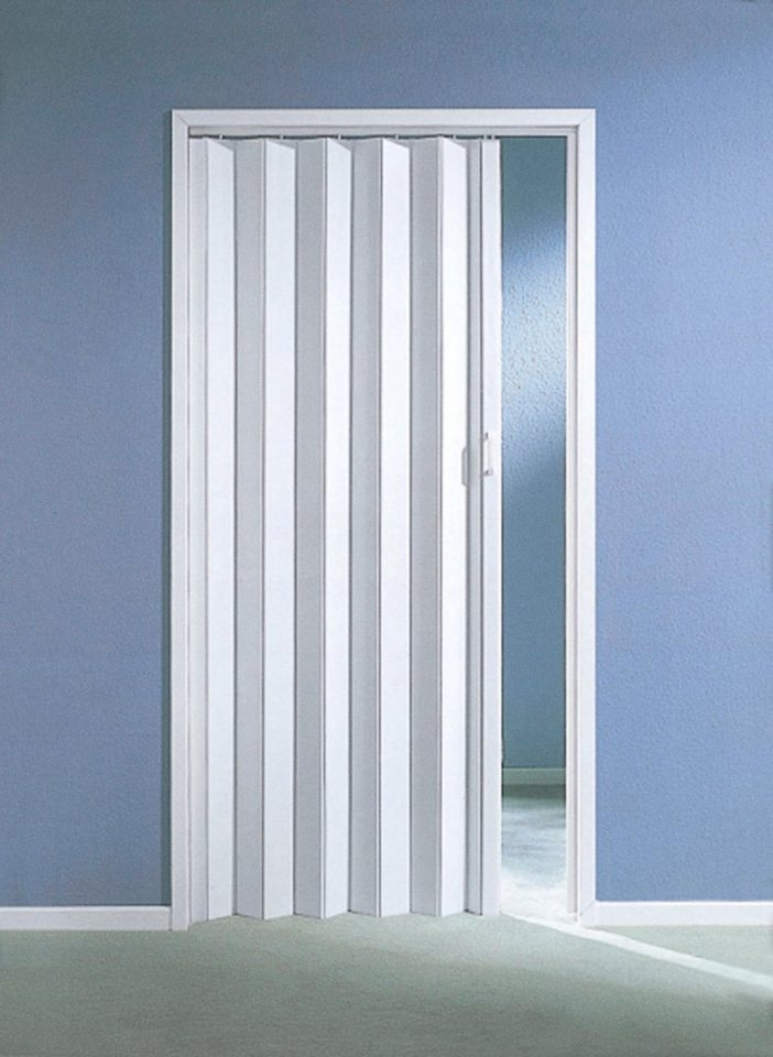 Kunststoff-Falttür, B: bis 90 cm, weiß in weiß