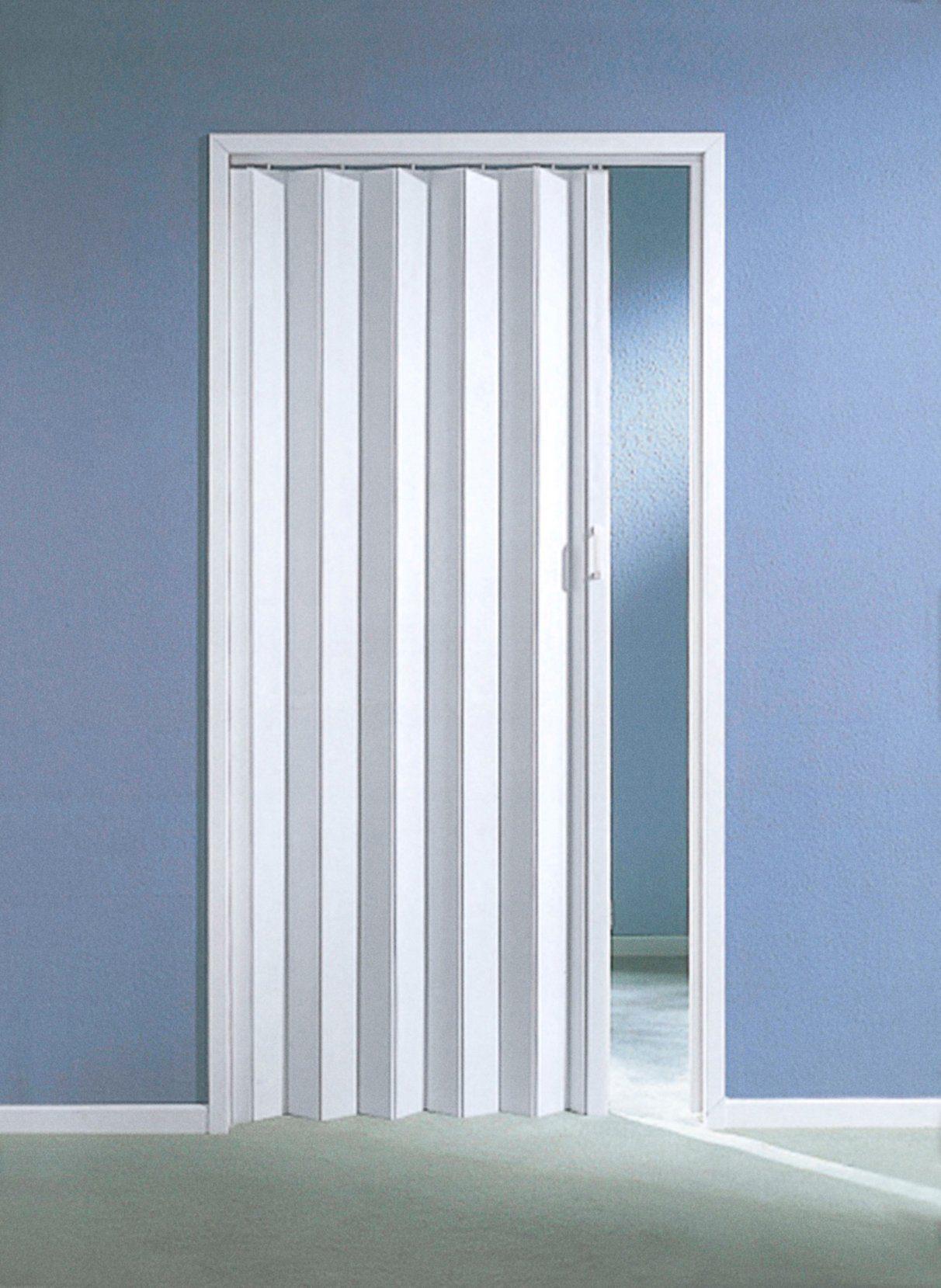 Kunststoff-Falttür , B: bis 90 cm, weiß