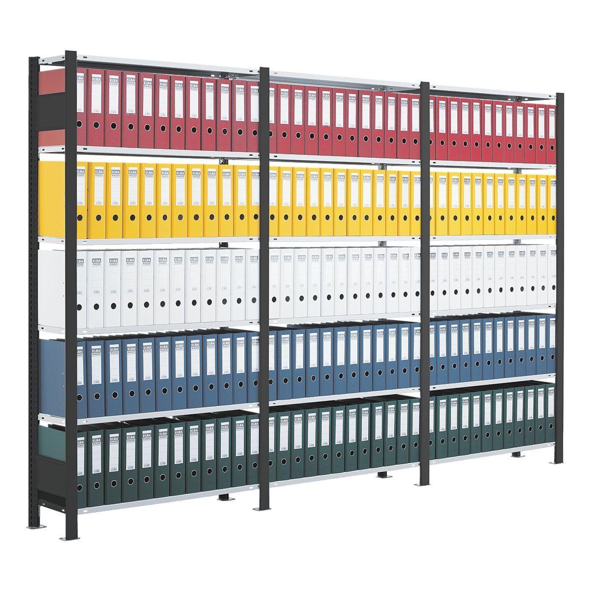 SCHULTE Lagertechnik Anbauregal für mit 7 Böden »Duo schmal«
