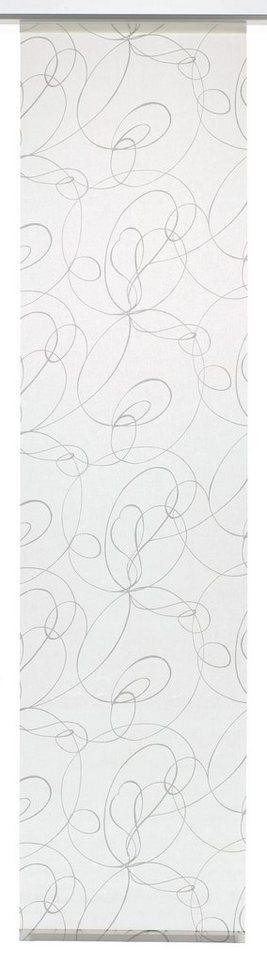 Schiebegardine, Gardinia, »Curling«, waschbar (1 Stück mit Zubehör) in weiß/grau