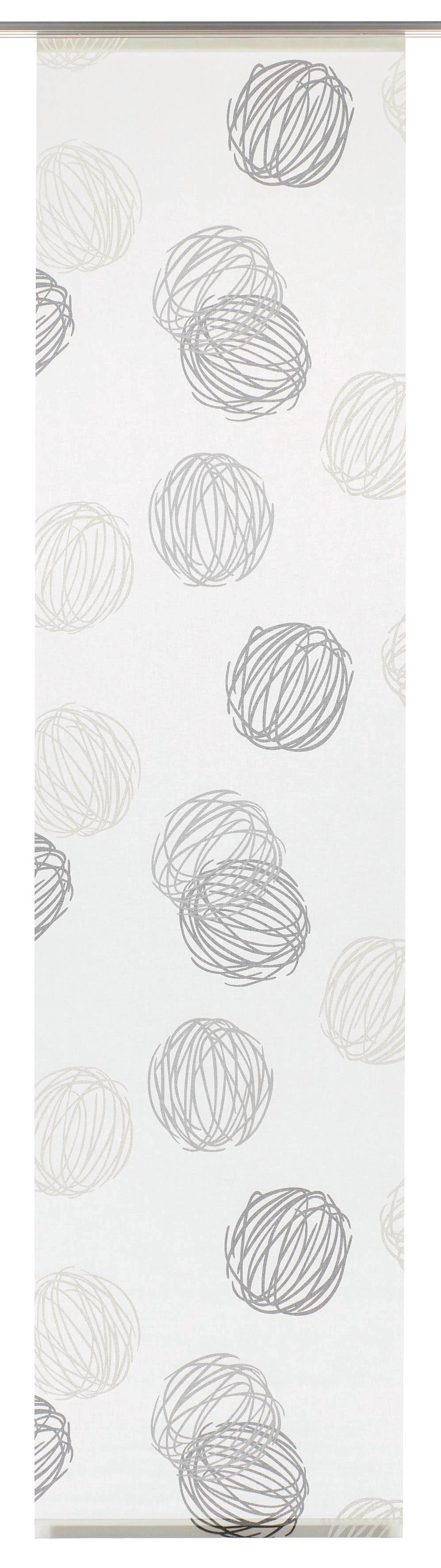 Schiebegardine, Gardinia, »Knäuel«, mit Klettband, waschbar, 60 cm breit (1 Stück ohne Zubehör)