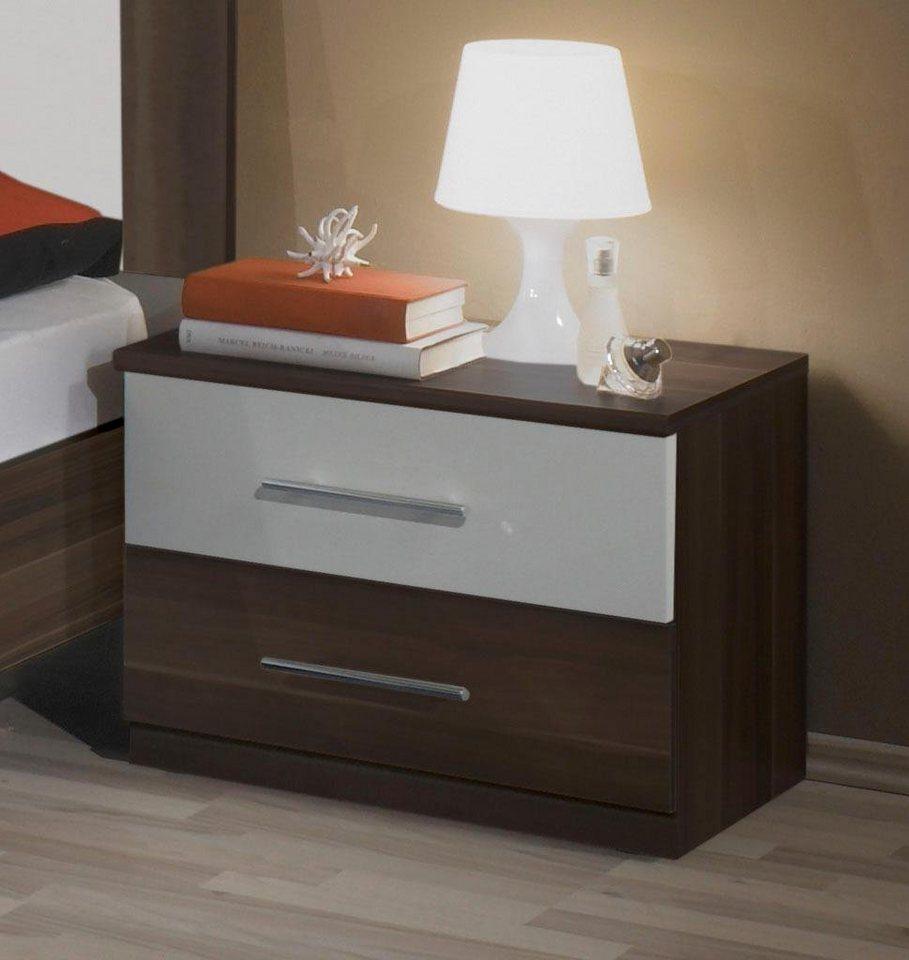 Wimex Nachttisch in Columbia nussbaumfarben/weiß