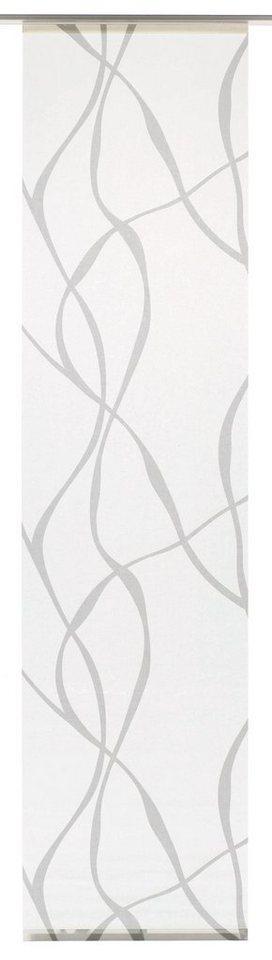 Schiebegardine, Gardinia, »Wave«, waschbar, 60 cm breit (1 Stück ohne Zubehör) in weiß/grau