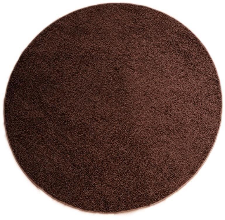 Teppich, rund, Living Line, »Shaggy Pulpo«, gewebt in braun