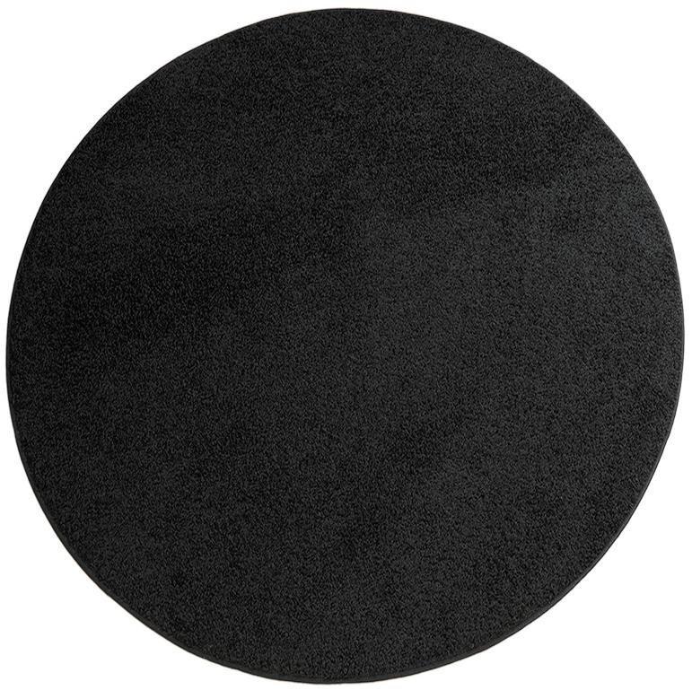 Teppich, rund, Living Line, »Shaggy Pulpo«, gewebt in schwarz