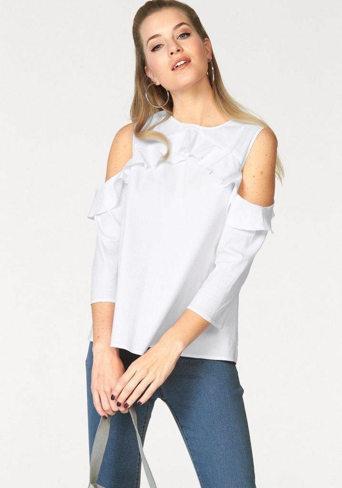 Vero Moda Rüschenbluse »BLIS« in weiß