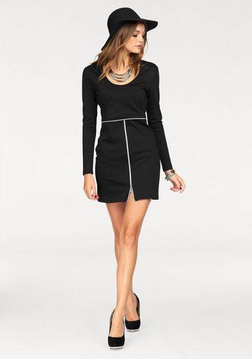 Melrose Jerseykleid, mit Zier-Reißverschluss