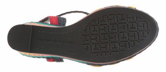 Tommy Hilfiger Sandalette, in modischer Flechtoptik