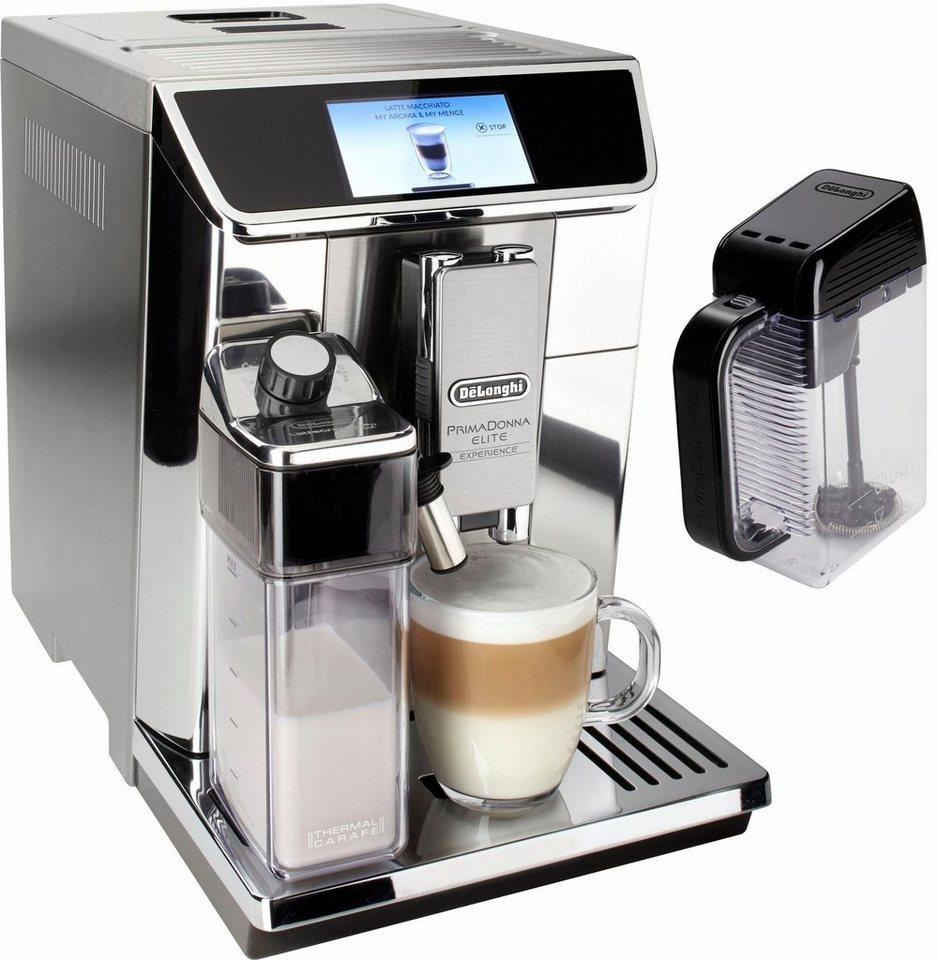 De'Longhi Kaffeevollautomat PrimaDonna Elite Experience »ECAM 656.85.MS«, auch für Kaltgetränkevariationen in edelstahl