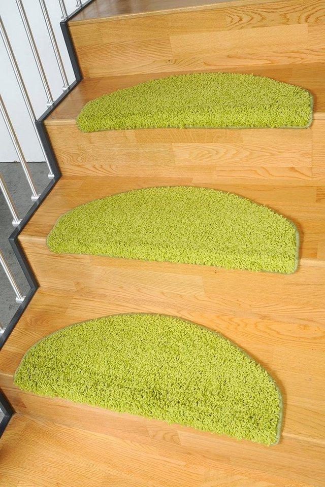 Stufenmatte, Living Line, »Shaggy Pulpo«, gewebt in grün