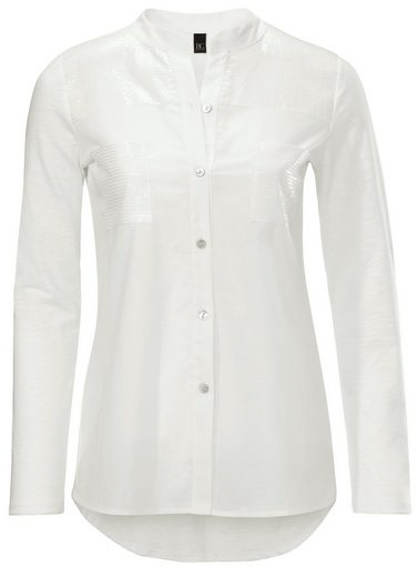 B.C. BEST CONNECTIONS by Heine Shirtbluse mit Pailletten-Applikationen