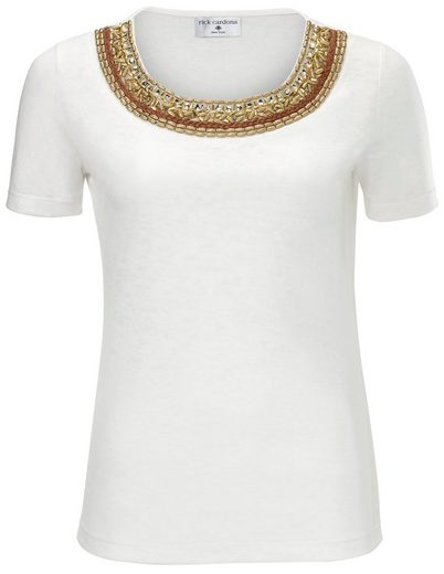RICK CARDONA by Heine T-Shirt mit Perlenapplikation