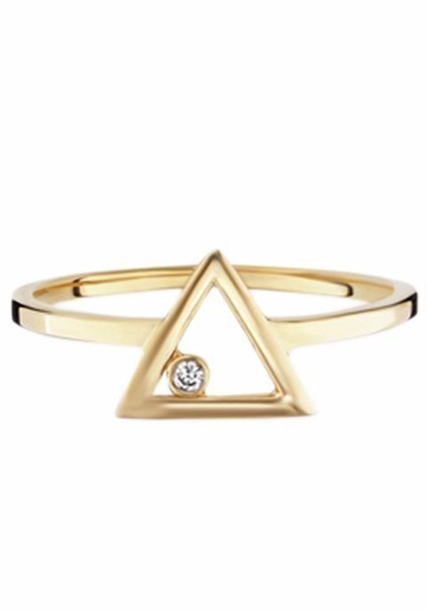 CAÏ Fingerring »C7195R/90/03« mit Zirkonia in Silber 925-goldfarben