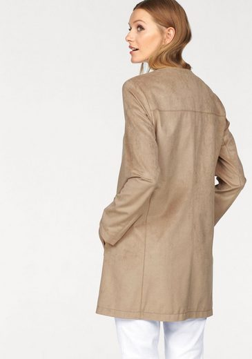 Basler Long Blazer In Suede Optics