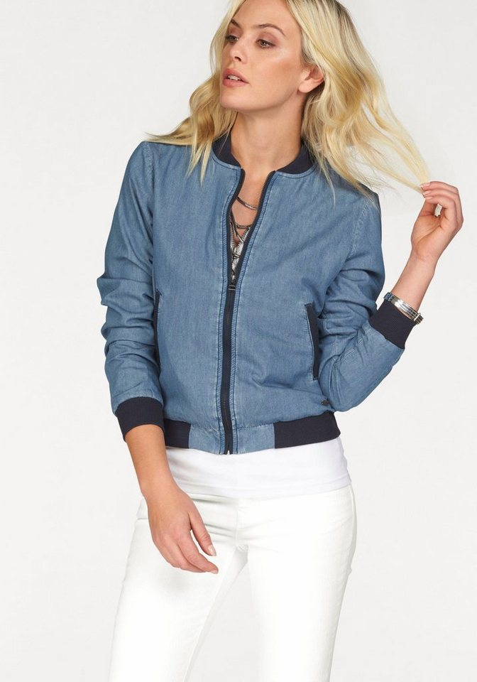 Arizona Blousonjacke im angesagten Denim-Look in blue-used