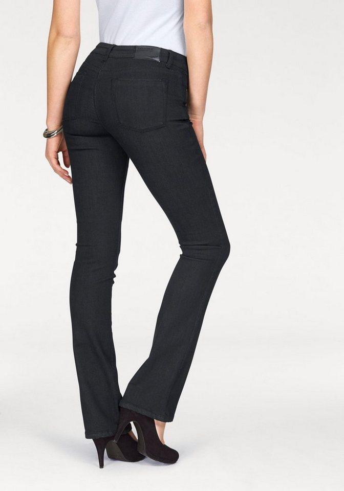 Arizona Bootcut-Jeans »Baby-Bootcut« in schwarz