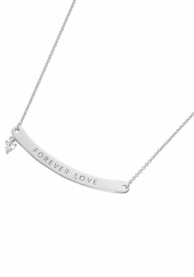 GIORGIO MARTELLO MILANO Silberkette »Herz, Forever Love, 195124493450« mit Zirkonia in Silber 925