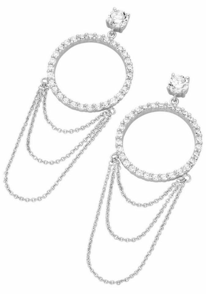 GIORGIO MARTELLO MILANO Paar Ohrhänger »195141693« mit Zirkonia in Silber 925