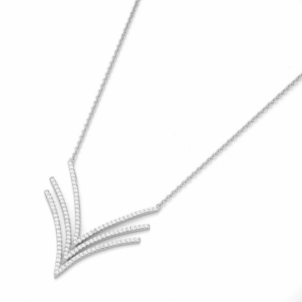 GIORGIO MARTELLO MILANO Silberkette »195138993450« mit Zirkonia in Silber 925