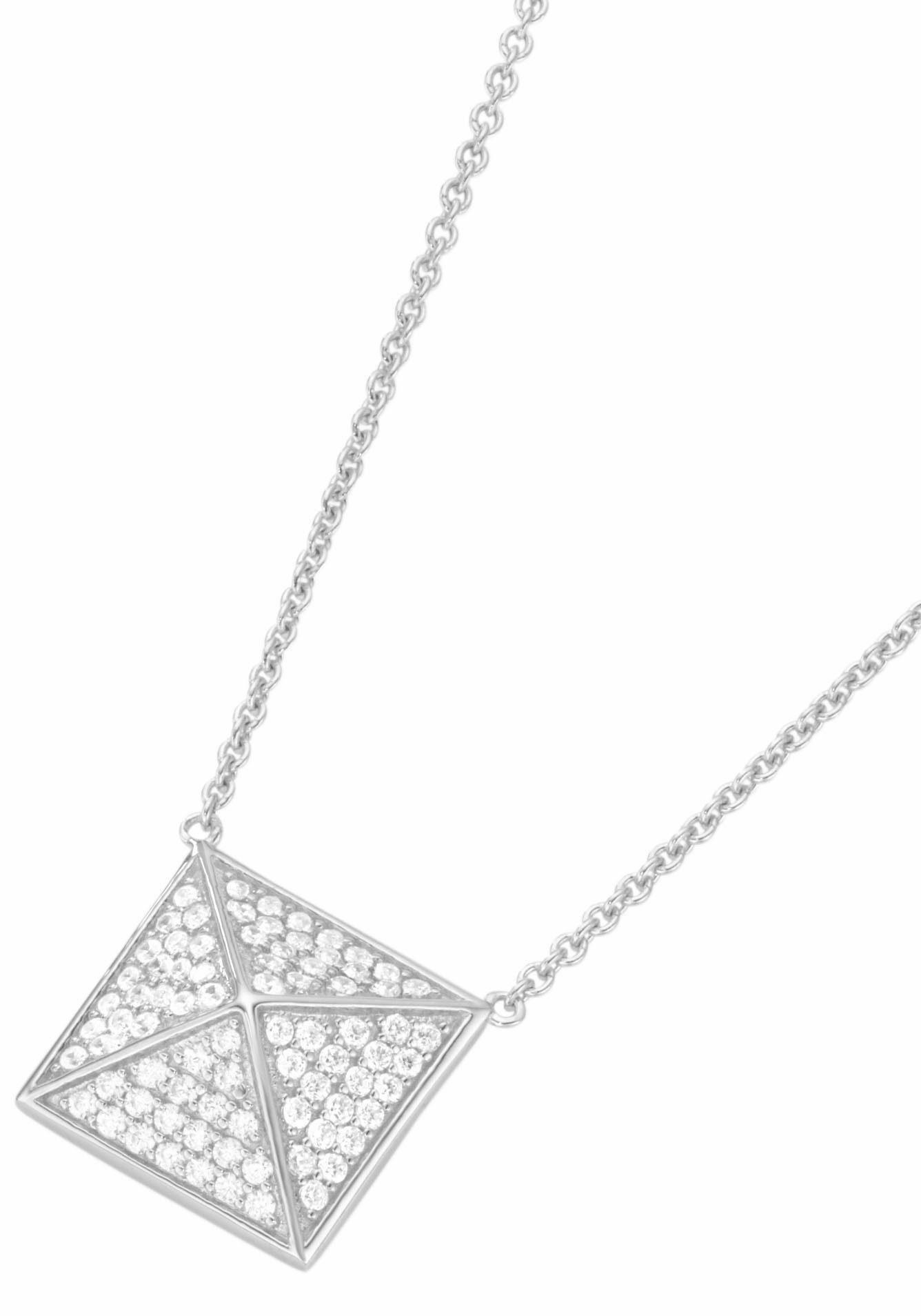 GIORGIO MARTELLO MILANO Silberkette »Pyramide, 195099993450«, mit Zirkonia