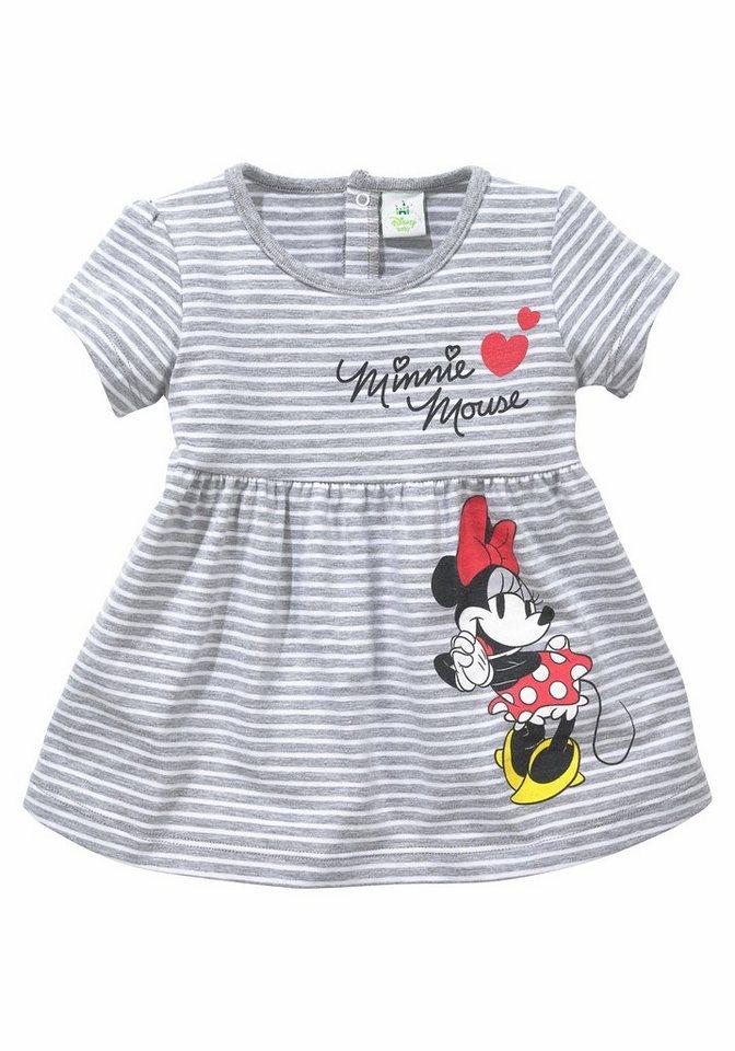 Disney Jerseykleid in grau-meliert-geringelt