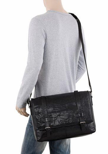 PETROLIO Messenger Bag, aus echtem Leder mit Laptopfach