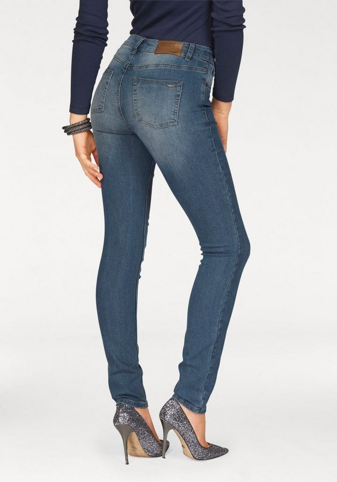 Arizona Skinny-fit-Jeans »High-Waist« in blue-used