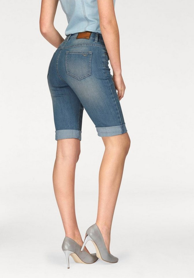 Arizona Jeansbermudas mit Stretch in blue-used