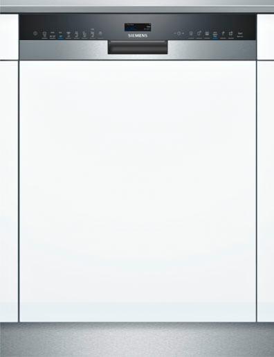SIEMENS Teilintegrierbarer Geschirrspüler SX558S06TE, A+++, 9,5 Liter, 14 Maßgedecke in silberfarben