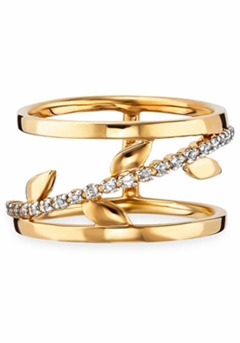 CAÏ Fingerring »C1735R/90/93« mit Topas in Silber 925-goldfarben