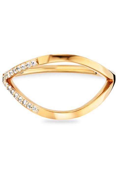 CAÏ Fingerring »C1762R/90/93« mit Topas in Silber 925-goldfarben