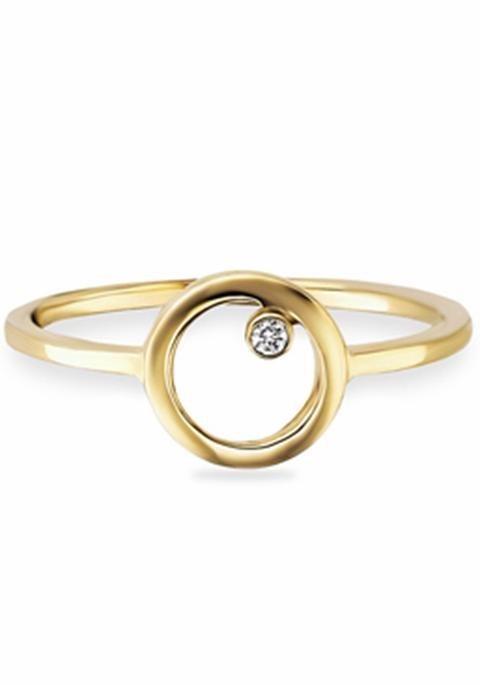 CAÏ Fingerring »C7171R/90/03« mit Zirkonia in Silber 925-goldfarben