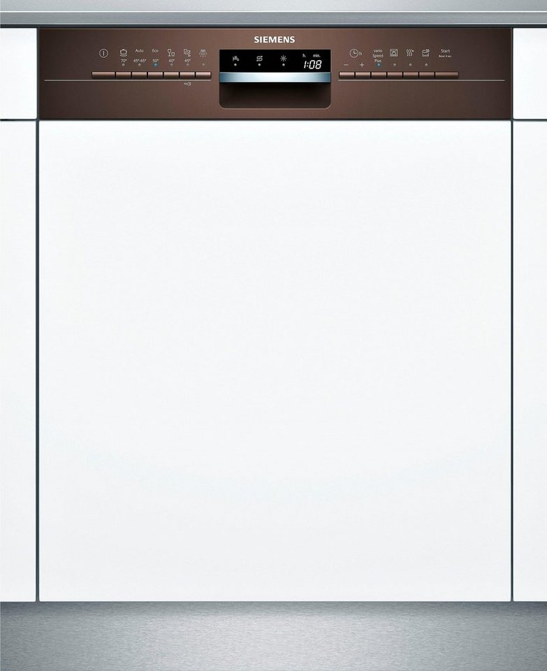 SIEMENS Teilintegrierbarer Geschirrspüler SN536M03ME, A++, 9,5 Liter, 14 Maßgedecke in braun