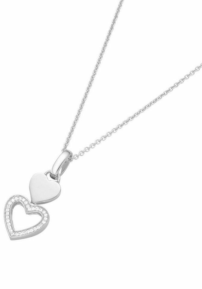 GIORGIO MARTELLO MILANO Herzkette »Herz, 501011893450« mit Zirkonia in Silber 925