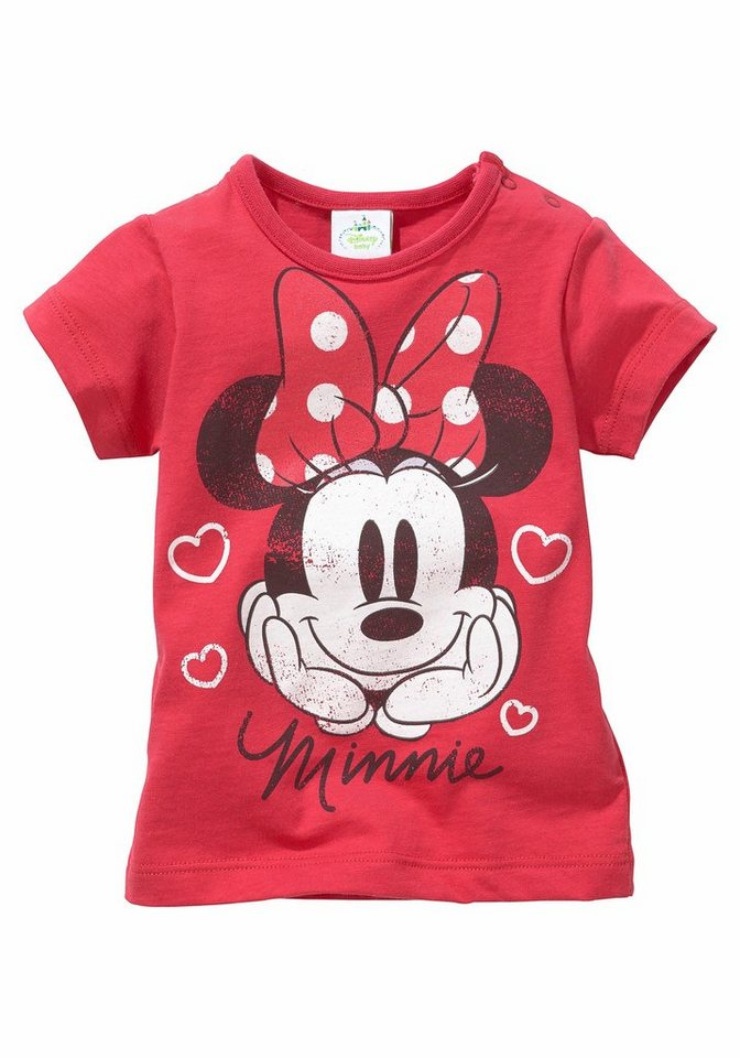 Disney T-Shirt mit Minnie Mouse Motiv in rot-bedruckt