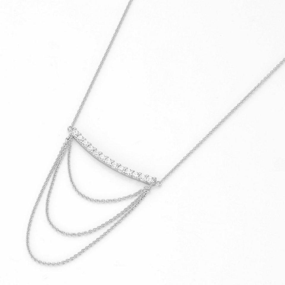 GIORGIO MARTELLO MILANO Silberkette »195141393450« mit Zirkonia in Silber 925