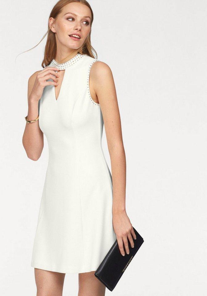 Siena Studio Jerseykleid mit Glitzersteinchen in wollweiß