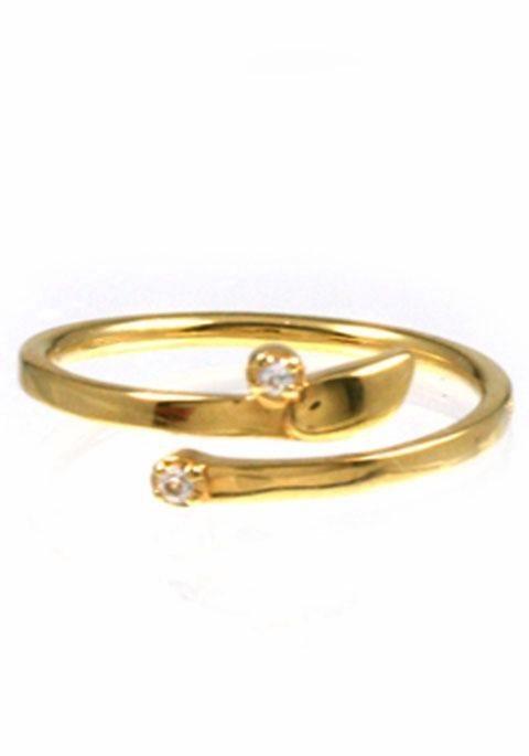 CAÏ Fingerring »C1736R/90/93« mit Topas in Silber 925-goldfarben
