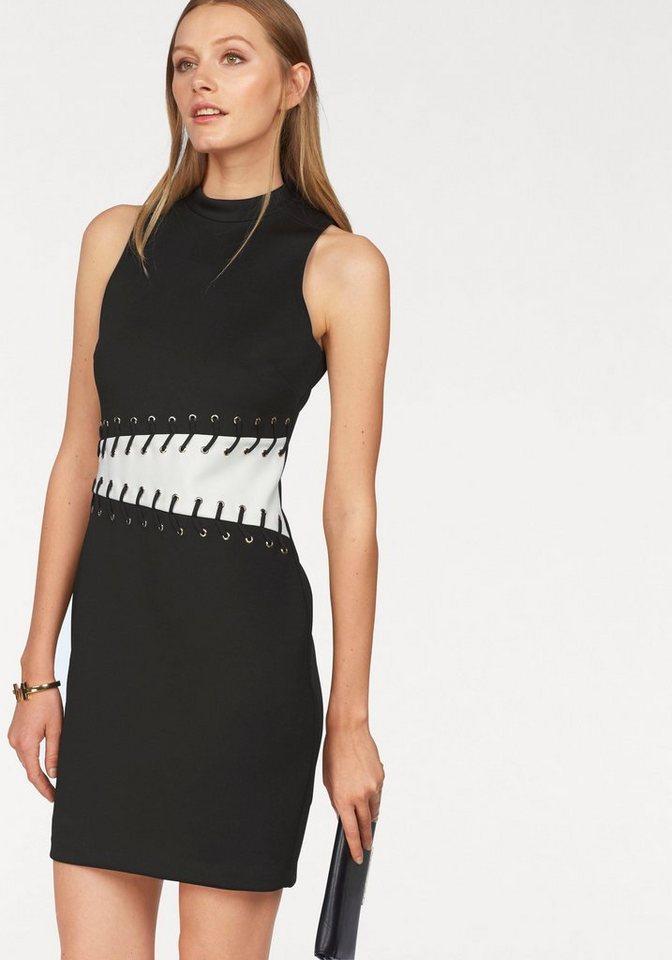 Siena Studio Partykleid mit Stehkragen in schwarz-weiß