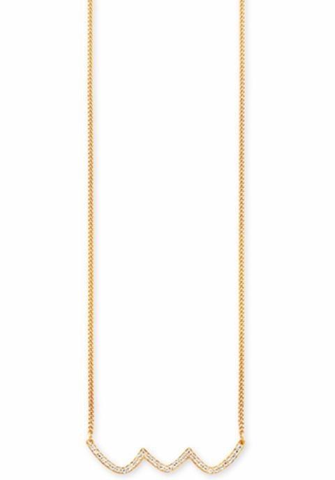 CAÏ Kette mit Anhänger »C1766N/90/93/45« mit Topas in Silber 925-goldfarben