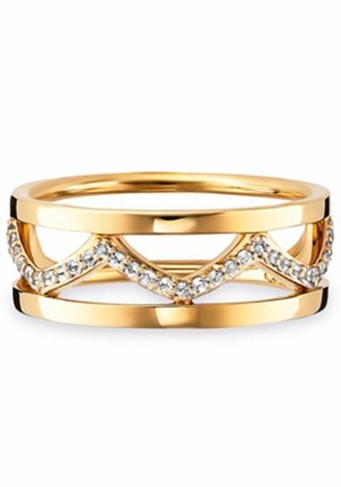 CAÏ Fingerring »C1766R/90/93« mit Topas in Silber 925-goldfarben