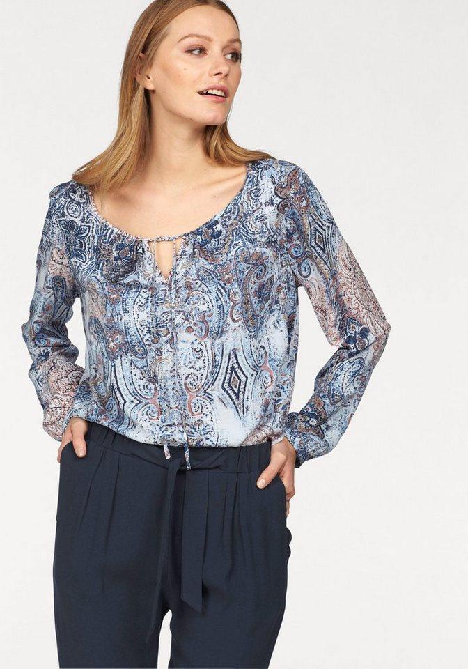 Soya Concept Klassische Bluse »Saina1« in mehrfarbig-blau-rosé-weiß