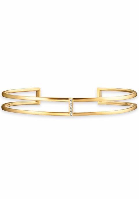 CAÏ Fingerring »C1746B/90/93« mit Topas in Silber 925-goldfarben